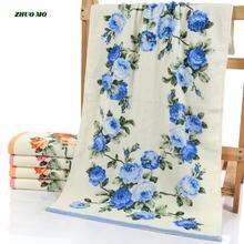 Роскошные женские хлопковые полотенца zhuo mo для душа с пионами