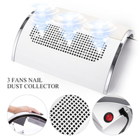 40W Nail Suction Dust Collector Large Size Nail Vacuum Cleaner Low Noisy with 3 Fans Long Service Life 20W Nail Art Tool
