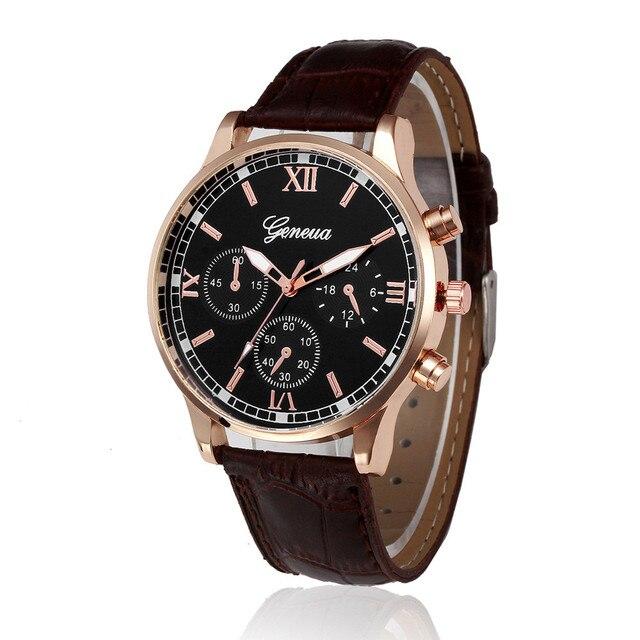 Mens Watch Luxury Fashion Retro Design Leather Band Analog Alloy Quartz Wrist Business Wristwatch Relogio Masculino L58