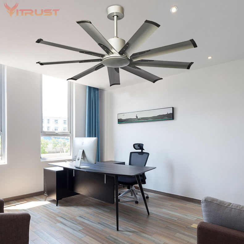 Industrial ventilador de Teto com luz kits de Freqüência variável e Solide de Metal de Controle Remoto ventilador de teto lâmpada fã sala de Jantar Tranquilo