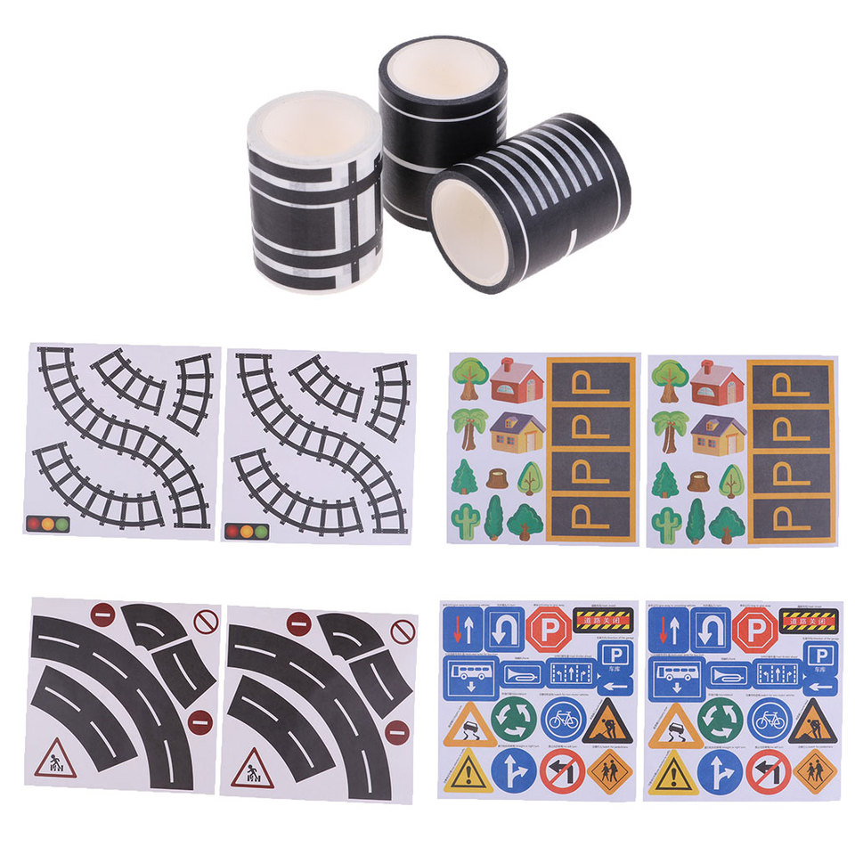 Traffic Car Bus Vehicle Road Parking Guide Sticks for Kids Educational Toys