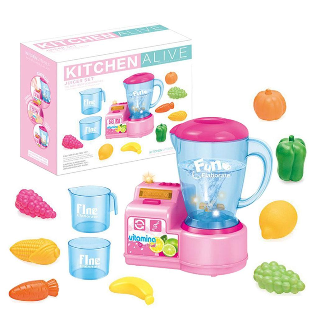 Kids Play Kitchen Pretend Play Set Educational Toys Kitchen Juicer Mixer Blender And Other Accessories For Boys Girls