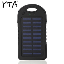 Solar 12000mAh power bank Portable Solar Panel Dual USB Battery Pack Charger Charging LED Battery Charger For iphone5 6 7 8 X