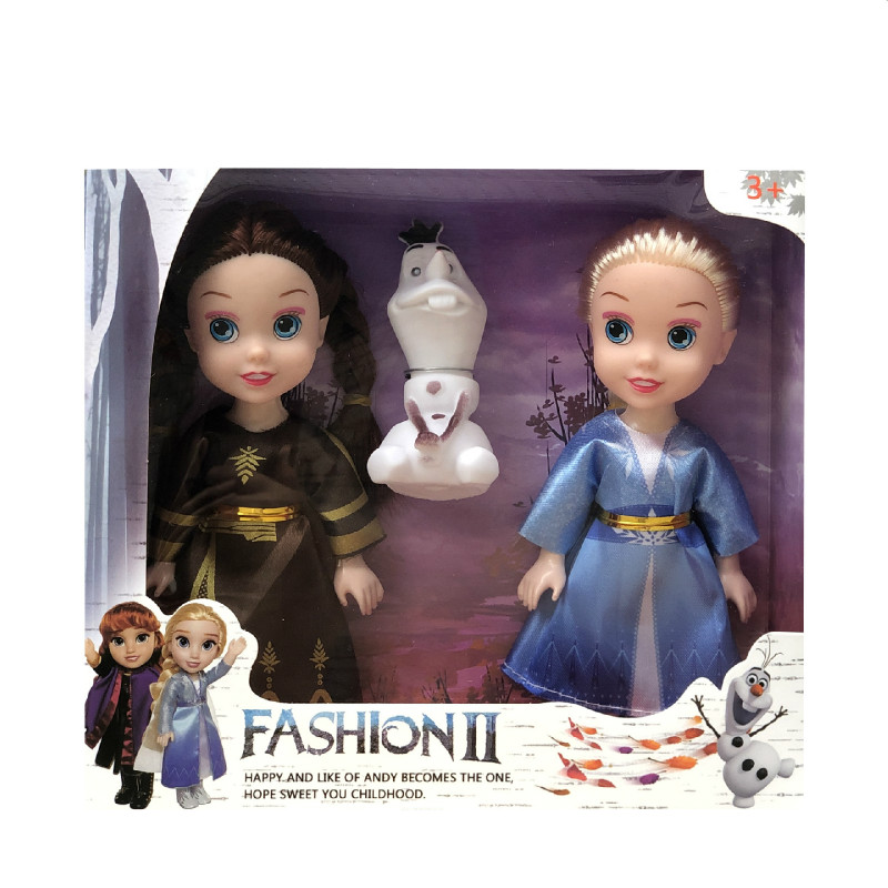 3pcs Frozen 2 Princess Anna Elsa Dolls For Girls Toys Princess Anna Elsa Dolls 8 Styles Of Clothes 16cm Small Plastic Baby Dolls