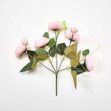 Silk Rose Bouquet Home Explosions Wedding Decorative Flowers Fake For Scrapbook Ornamental Flowerpot Artificial