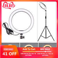 5/12W LED Selfie Ring Licht Studio Fotografie Foto Vullen Licht Statief voor Mobiele Telefoon Live Make-Up 160 MM/260 MM Optioneel