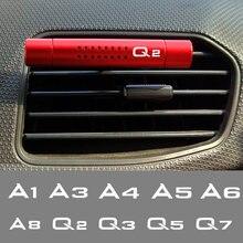 Ambientador de aire del coche salida de aire de barras con Clip para Audi A4 B5 B6 B7 B8 B9 A3 8P 8L A5 A6 C6 C5 C7 A1 A7 A8 Q2 Q3 Q5 Q7 Q8