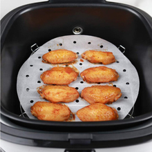 100Pc/Bag Air Fryer Steamer Liners Premium Perforated Wood Pulp Papers Non-Stick Steaming Basket Mat Baking Cooking Kitchen Tool