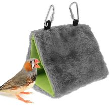 Plush Bird Parrot Hammock Pet Hanging Bed Tent House Winter Warm Cage Nest