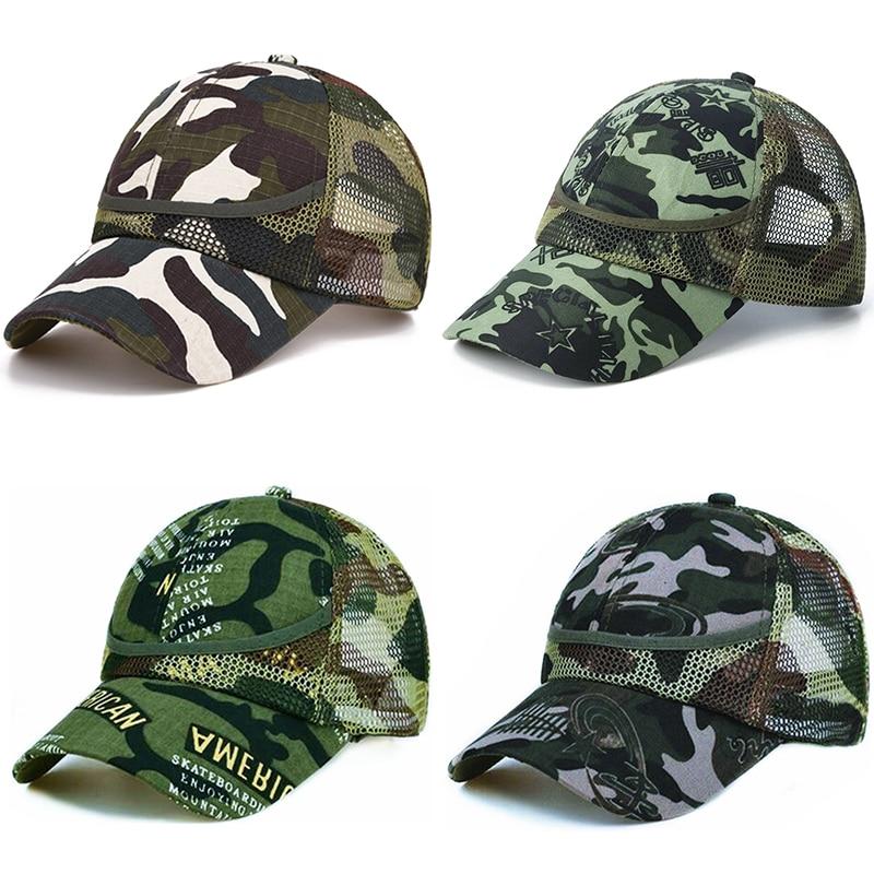 3-9 Yrs Outdoor Camouflage Baby Boy Mesh Baseball Cap Kids Cap Summer Autumn For Boys Girl Caps Net Casual Caps Kids Hats(China)