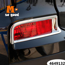 цена на 2015 2016 For Honda CRV CR-V Car Rear tail Fog Light lamp bumper sticker Cover trim ABS Chrome auto exterior styling accessories