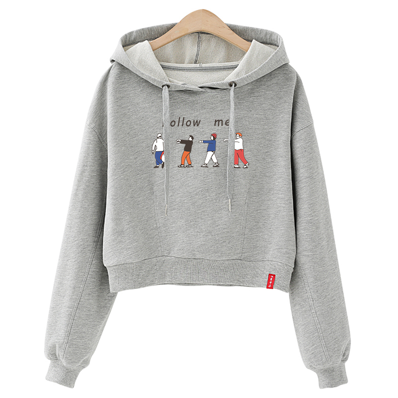Autumn Women Sweatshirts Tracksuits Hoodie Jumper Long-Sleeve Hip-Hop Casual Follow-Me