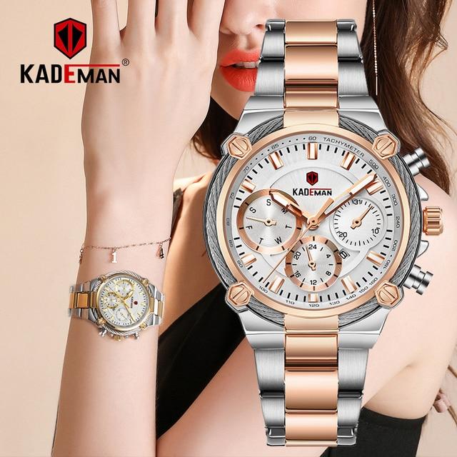 Bayanlar bilek saatler üst marka lüks iş kadınları saatler 3ATM yeni moda kadın saat çelik bilezik Relogio Feminno 836