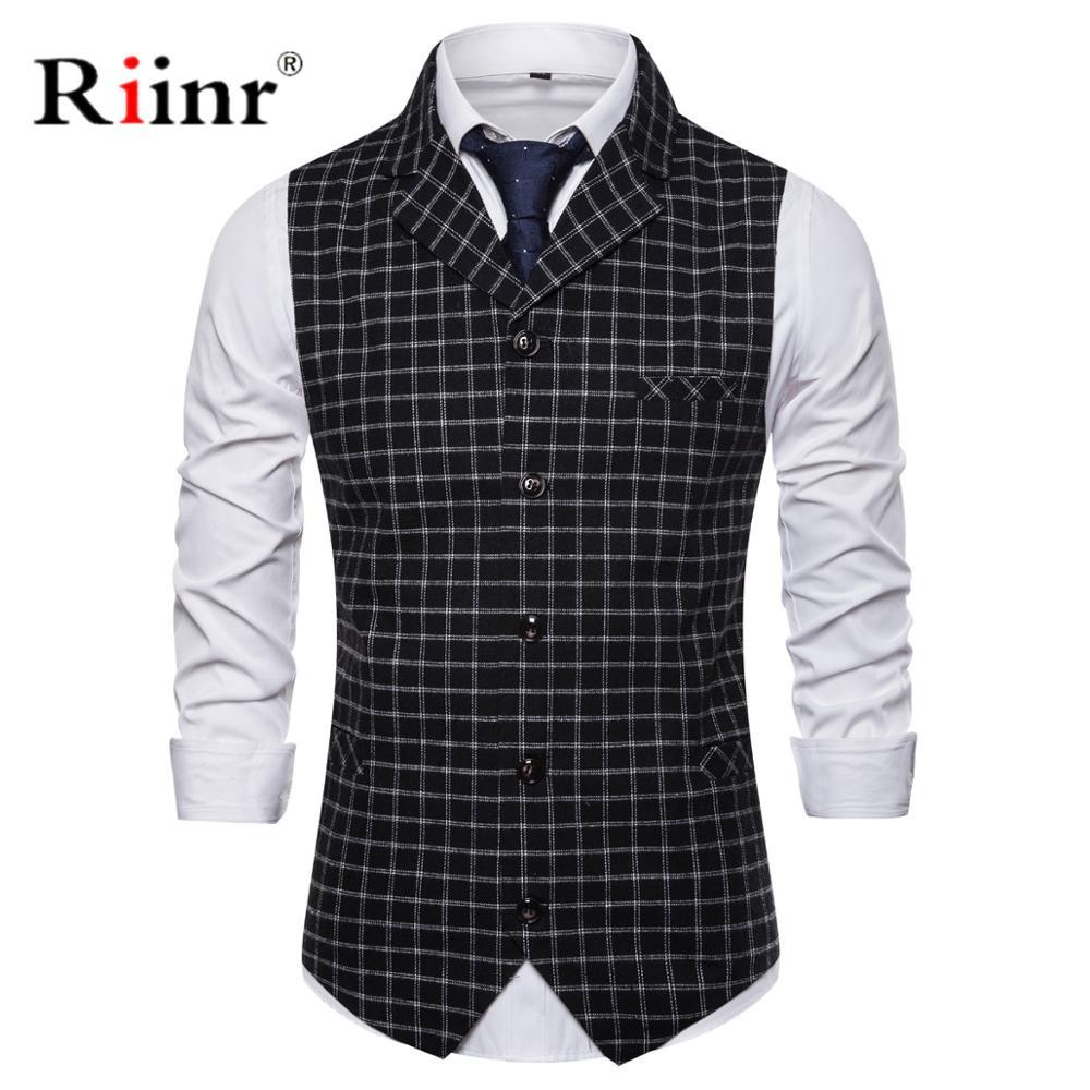 2019 New Arrival Men Vest Spring Autumn Fashion Black Navy Slim Fit Suit Vest Brand Prom Wedding Waistcoat For Men Men Clothes