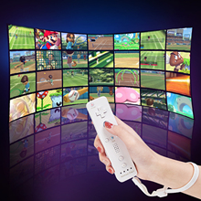 2 in 1 Wireless Remote Controller for Nunchuk Nintendo Wii Built-in Motion Plus Gamepad with Silicone Case Motion Sensor
