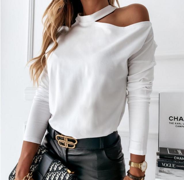 T shirt Women New Style  Ladies Elegant Leisure Casual Women Tops Pullovers Autumn O-neck Tee Shirt Femme