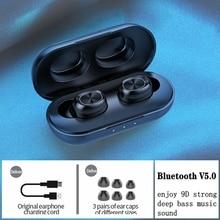 цена на TWS Wireless Bluetooth Earphones 9D Hifi Stereo bass Sports headset waterproof Noise Cancelling Handsfree With Mic