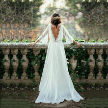 Горячая Распродажа Очаровательное белое шифоновое свадебное