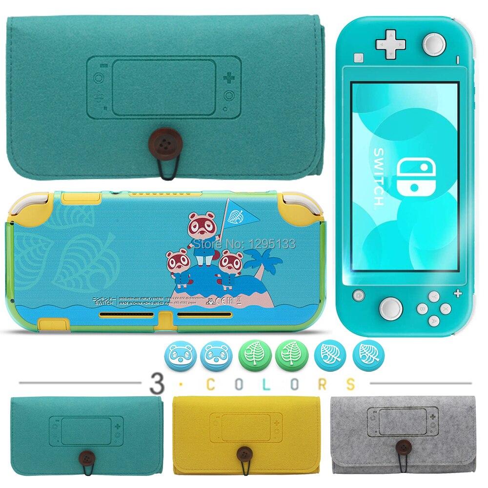 4 в 1, новый мягкий мини-чехол Nintendo Switch Lite + пластиковый жесткий чехол для Nintendo Switch Lite, защита
