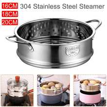 Multi-specification Thickening Food Steaming Multi-layer Steamer 304 Stainless Steel with Double Ear Steamer Kitchen Tools