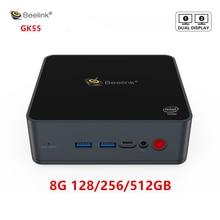 Beelink GK55 Windows 10 Mini Pc Intel J4125 Tot 2.7Ghz 8 Gb 128 Gb 256Gb 2.4/5G Wifi 2 * Hdmi BT4.0 Computer Linux Nuc Ubuntu