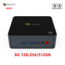 Beelink GK55 windows 10 Mini PC intel J4125 jusquà 2.7Ghz 8 GB 128 GB 256GB 2.4/5G WIFI 2 * HDMI BT4.0 ordinateur linux NUC ubuntu