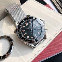 Automatic mechanical men's watch ceramic black bezel, luminous 30m waterproof stainless steel watch 007B men's watch