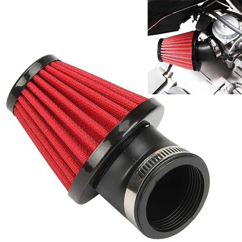 New Universal Cone Cold Air Filter Intake Cleaner Inlet For Motorcycle 48mm