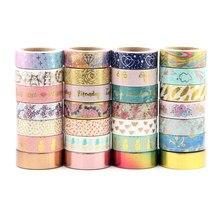 Preço de venda misture aleatoriamente 30 rolos lote (conjunto/kit) qualidade superior folha washi fita de mascaramento japonês washi folha 15mm * 10m qualidade superior