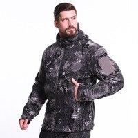 ESDY Men Outdoor Winter Military Tactical Jacket Polar Fleece Thermal Camouflage Heated Coats Climbing Skiing Training Jackets