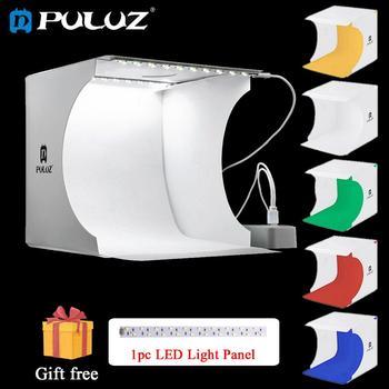 PULUZ 20*20cm Mini Folding Studio Diffuse Soft Box Fotografia Lightbox Black White Background Photography Photo Kit - discount item  21% OFF Camera & Photo