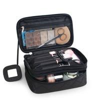 메이크업 가방 여성 가방 대형 방수 나일론 여행 화장품 가방 여행 주최자 케이스 필수품 메이크업 워시 화장실 가방