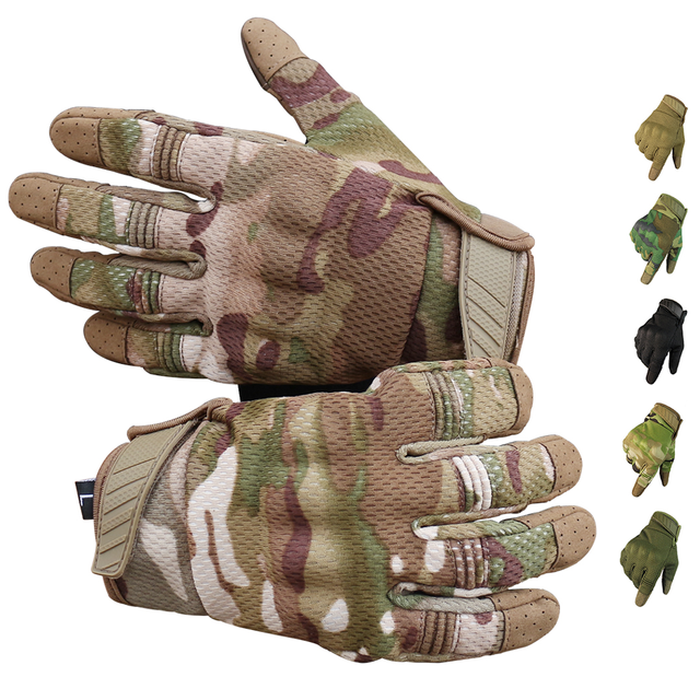 Men Riding Gloves Cycling Bike Full Finger Motos Racing Gloves Antiskid Screen Touch Outdoor Sports Tactical Gloves Protect Gear