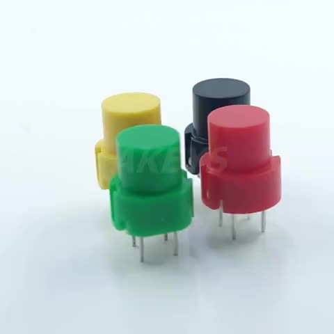 10PCS PS-536-2 Top Dome 4 Pin DIP Type Red Plastic Push Button Switch For Coffee Machine