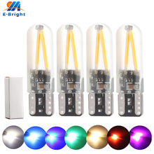 20pcs DC 12V Canbus T10 W5W COB 30 SMD SILICA Led Bulbs No Error Car Indicator Clearance Lights white red blue amber 300lm 6500K