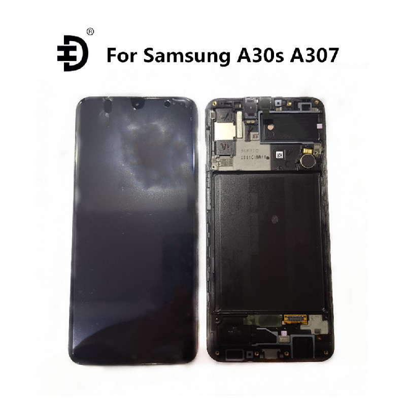 """6.4"""" OLED LCD For Samsung Galaxy A30s A307 LCD Display Touch Digitizer With Frame For SAMSUNG A30s A307F SM-A307 LCD Screen"""