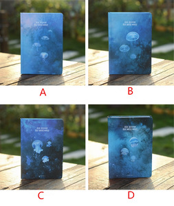 """Image 2 - """"Blue Jellyfish"""" Hard Cover Notebook Blank Art Drawing Papers Journal Study Diary Notepad Stationery Gift"""