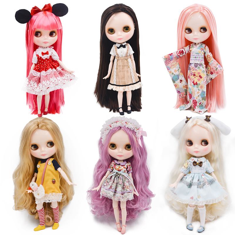 Neo Blyth Doll NBL Customized Shiny Face,1/6 BJD Ball Jointed Doll Ob24 Doll Blyth for Girl, Toys for ChildrenDolls   -