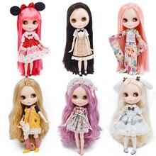 Neo blyth boneca nbl personalizada, brilhante rosto, 1/6 bjd, boneca juntas esféricas ob24, boneca blyth para meninas brinquedos para crianças