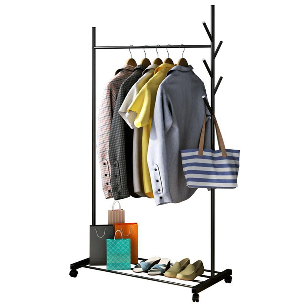 3 in 1 Drying Rack Multifunction Clothes Hanger Coat Rack for Clothing Hat Storage 86.5*42.5*163cm