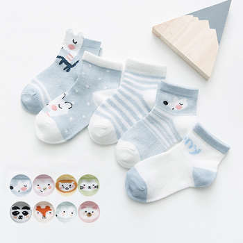 5Pairs/lot 0-2Y Infant Baby Socks Baby Socks for Girls Cotton Mesh Cute Newborn Boy Toddler Socks Baby Clothes Accessories 2