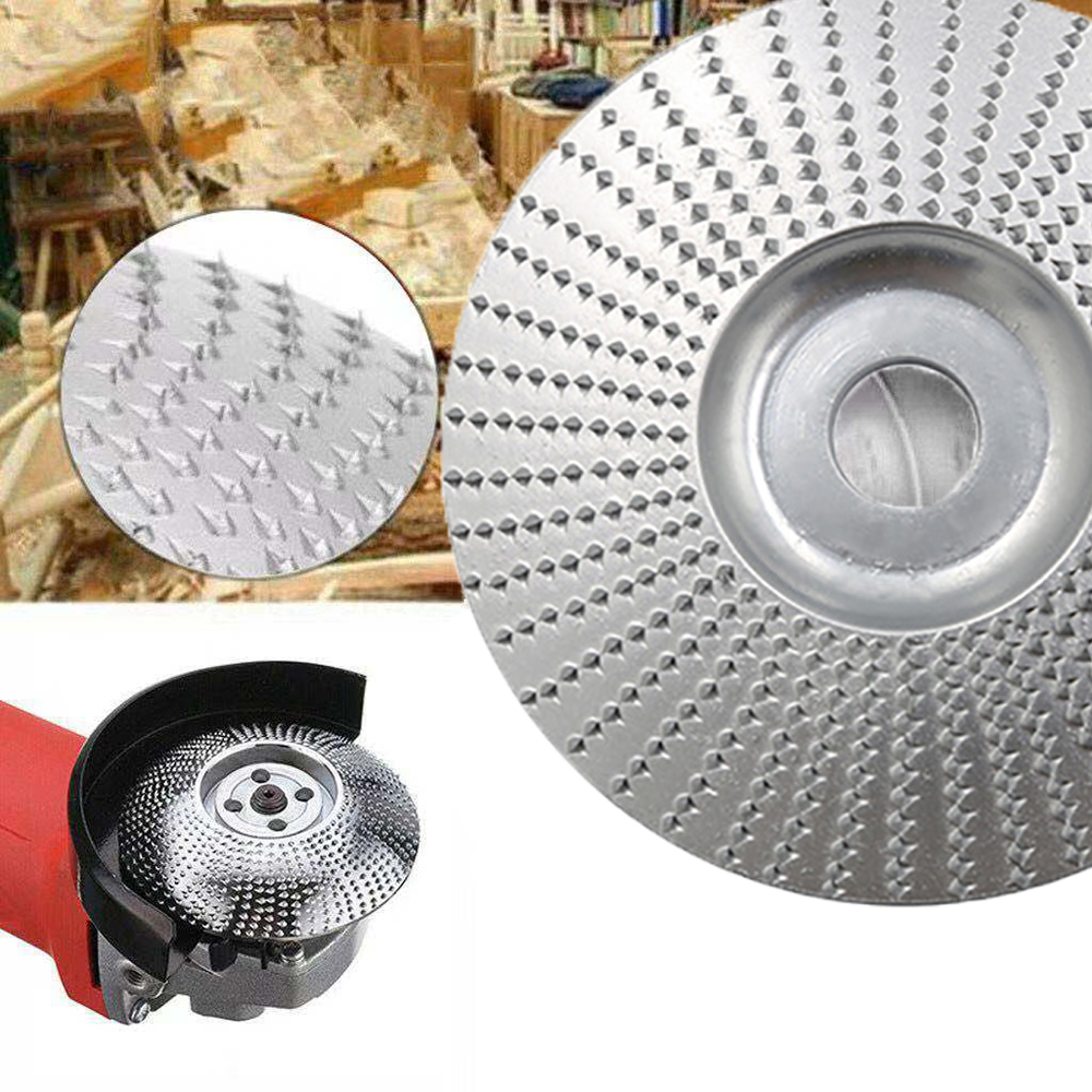 Wood Grinding Wheel Angle Grinder Disc Wood Carving Sanding For Angle Tungsten Carbide Coating Bore Shaping Abrasive Tool