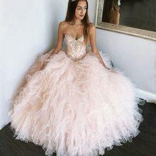 ANGELSBRIDEP-vestido De baile De quinceañera, Vestidos De 15 Anos formales De cristal dulce, 16 Vestidos De tul para fiesta De cumpleaños