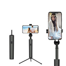 Bluetooth Selfie Stick Tripod Wireless Self Stick with Remote Control For iPhone Xiaomi Huawei Samsung Selfiestick Monopod(China)