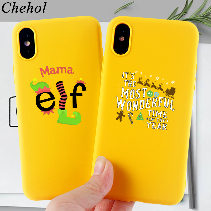 Merry Christmas Phone Cases for IPhone X XS MAX XR 8 7 6s Plus Letter Mama Case Soft Silicone Fitted TPU Back Covers Accessories in Fitted Cases from Cellphones Telecommunications