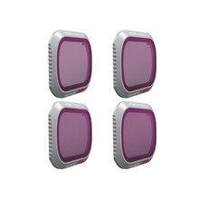 PGYTECH Mavic 2 Pro ND PL 4 adet set ND 8 16 32 64 PL filtre filtre kiti Lens filtreleri DJI Mavic 2 Pro profesyonel