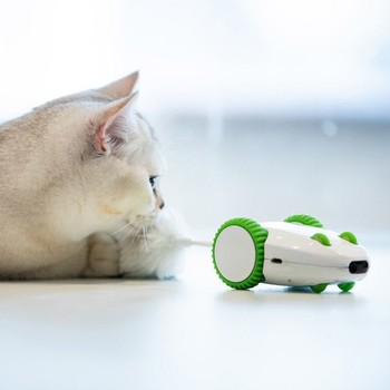 Smart Machine Electric Luminous Simulation Mouse Pet Cat Toys Pet Electric Toy Automatic Toy USB Charging Green Toys For Dog