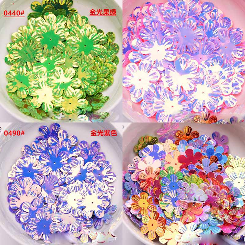 22 / 30mm Jinguang Liuyuan Plum Sequin DIY Handmade Clothing Apparel Accessories Material Wedding Party Decoration Sequin
