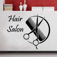Barber shop Wall Stickers Modern Fashion Hair Salon Wallsticker Home Decoration for Living Room Background Wall