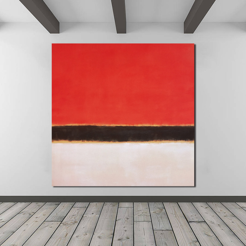 Marker Rothkoes Red White Black Canvas Painting Print Living Room Home Decor Modern Wall Art Oil Painting Poster Salon Pictures